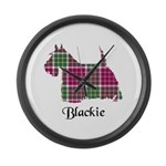 Terrier - Blackie Large Wall Clock