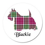 Terrier - Blackie Round Car Magnet