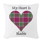 Heart - Blackie Woven Throw Pillow