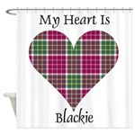 Heart - Blackie Shower Curtain