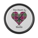 Heart - Blackie Large Wall Clock