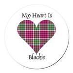 Heart - Blackie Round Car Magnet