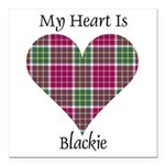 Heart - Blackie Square Car Magnet 3