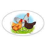 All American Trio Oval Sticker