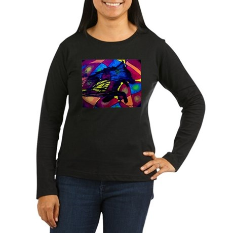 Wolf Spirit Women's Long Sleeve Dark T-Shirt
