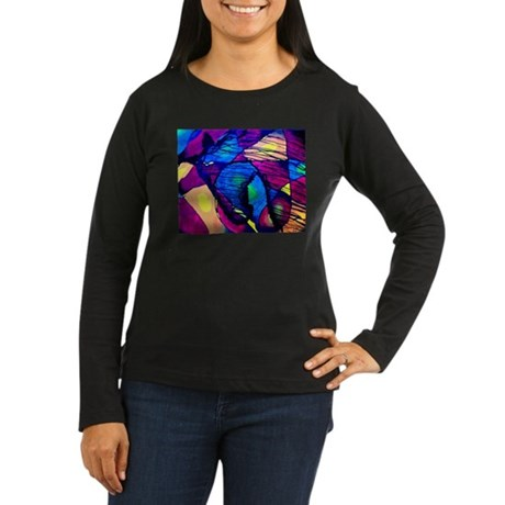 Horse Spirit Women's Long Sleeve Dark T-Shirt