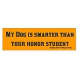 My Dog is Smarter Than...Bumper Car Sticker