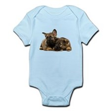 German Shepherd Siblings Infant Bodysuit