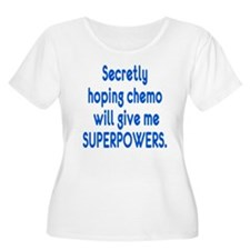 Funny Cancer Chemo Superpowers Plus Size T-Shirt
