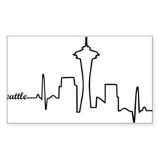 Seattle Heartbeat Letters Decal