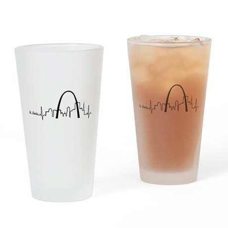 St. Louis Heartbeat Letters Drinking Glass