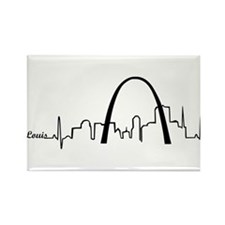 St. Louis Heartbeat Letters Rectangle Magnet