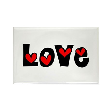 Love Rectangle Magnet (100 pack)