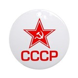 CCCP Soviet Star Ornament (Round)