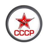 CCCP Soviet Star Wall Clock