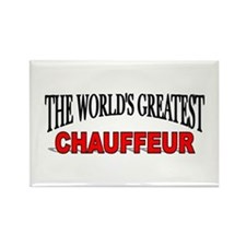 """The World's Greatest Chauffeur"" Rectangle Magnet"
