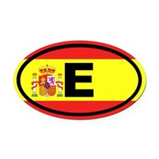 Spain E European Oval Car Magnet