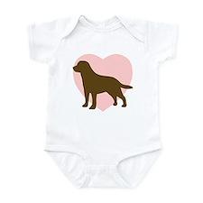 Labrador Retriever Heart Infant Bodysuit