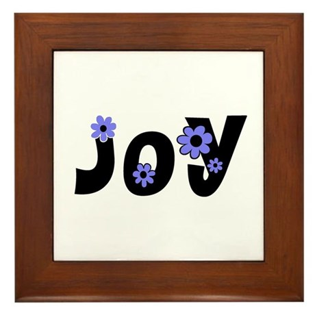 Joy Framed Tile