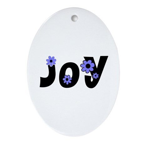 Joy Oval Ornament