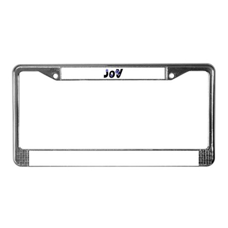 Joy License Plate Frame