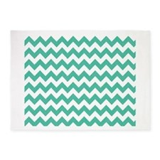 Sea Green Chevron pattern 5'x7'Area Rug