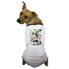 Vintage French Christmas amaryllis Dog T-Shirt