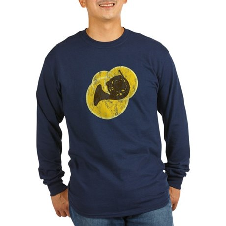 Horn Circles Long Sleeve Dark T-Shirt