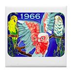 1966 Parrots Tile Coaster