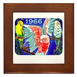 1966 Parrots Framed Tile