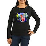 1966 Parrots Women's Long Sleeve Brown T-Shirt