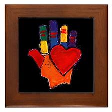 Hand and Heart Framed Tile