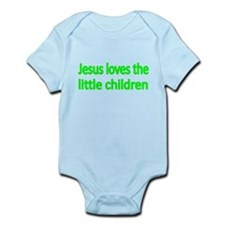 JESUS LOVES THE LITTLE CHILDREN 3 Body Suit