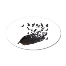 Flying Crow Feather Wall Decal