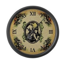 Weeping Cherub Large Wall Clock
