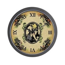 Weeping Cherub Wall Clock