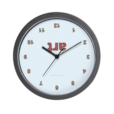 Upside Down Art Wall Clock