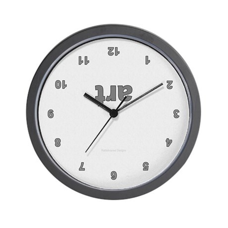 Upside Down Art Wall Clock Grey