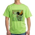 Bantam Chickens Green T-Shirt