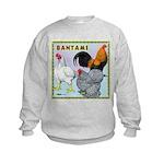 Bantam Chickens Kids Sweatshirt