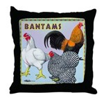 Bantam Chickens Throw Pillow