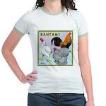 Bantam Chickens Jr. Ringer T-Shirt