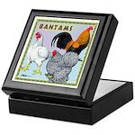 Bantam Chickens Keepsake Box