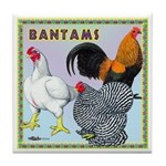 Bantam Chickens Tile Coaster