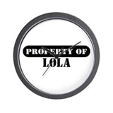 Property of Lola Wall Clock