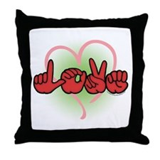 LOVE With Heart Throw Pillow