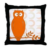 Owl on Branch Throw Pillow
