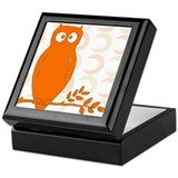Owl on Branch Keepsake Box