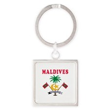 Maldives Coat Of Arms Designs Square Keychain