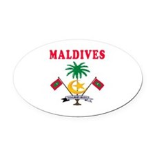 Maldives Coat Of Arms Designs Oval Car Magnet